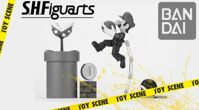 BANDAI S.H. FIGUARTS: LUIGI & PLAYSET C