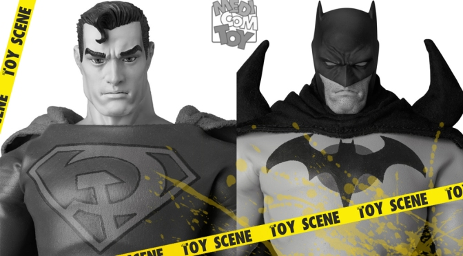 MEDICOM RAH SUPERMAN REDSON VERSION & BATMAN FLASHPOINT VERSION